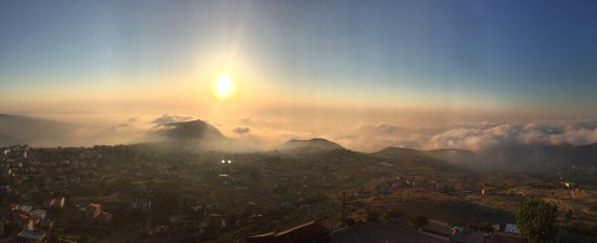 Ehden, Lebanon: Panorama on the top during sunset