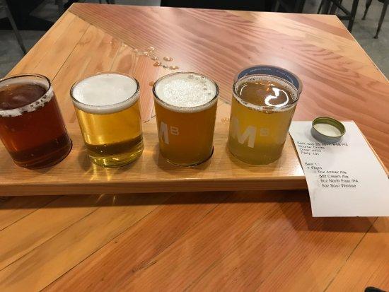 Coquitlam, Canada: flight of current brews