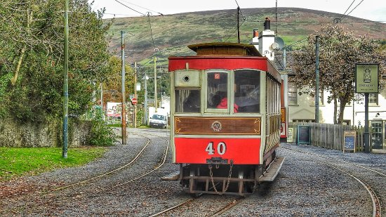 Manx Electric Railway: Departing Laxey