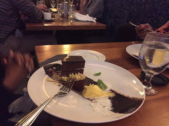 Brasserie Beck: a large, decadent dessert
