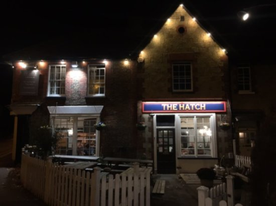Redhill, UK: The Hatch by night