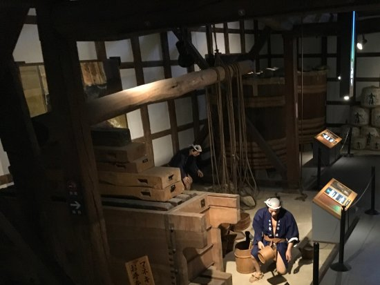 Kotohira-cho, Япония: Отжимание сакэ и его фильтрация