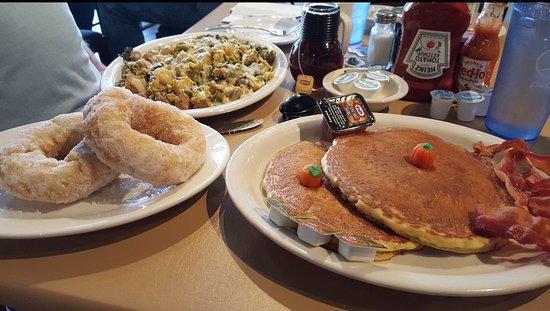 Utica, NY: Fried dough, giambotta, and pumpkin pancakes.