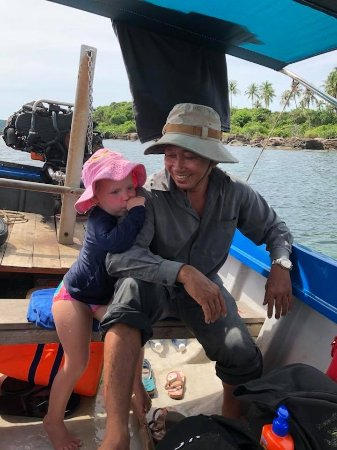 Duong Dong, Vietnam: my toddler took a liking to the skipper.