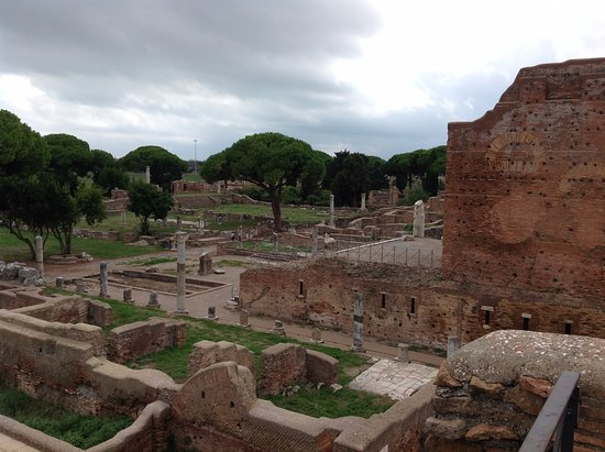 Ostia Antica, Italia: outlook from 3rd floor of a building