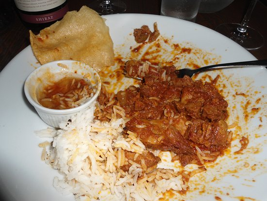 The Seagate Hotel: Tasty Lamb Curry (should have taken an earlier photo!)