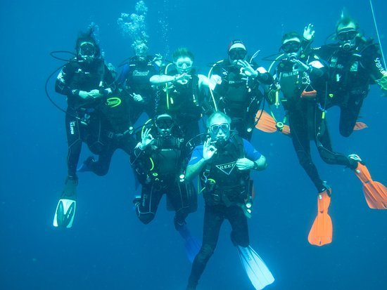 Vereeniging, África do Sul: Group photo on one of our dives