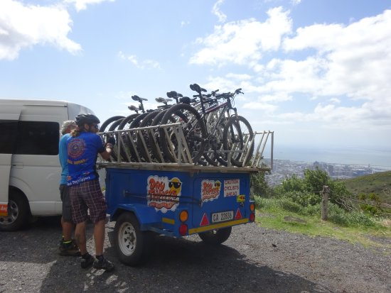 Daytrippers: Plenty of bikes to choose from after providing our heights during the reservation process.