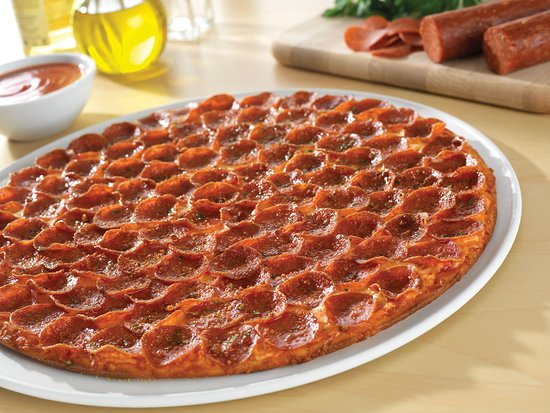 Donatos Pizza: Pepperoni Pizza — every large is topped Edge to Edge® with 100 pieces of pepperoni!