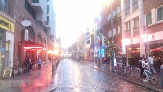 The Westin Dublin: street across from hotel