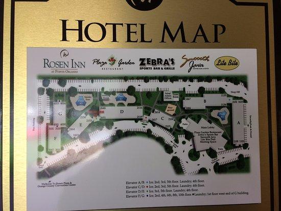 Map Of Pointe Orlando Hotel map   Picture of Rosen Inn at Pointe Orlando, Orlando