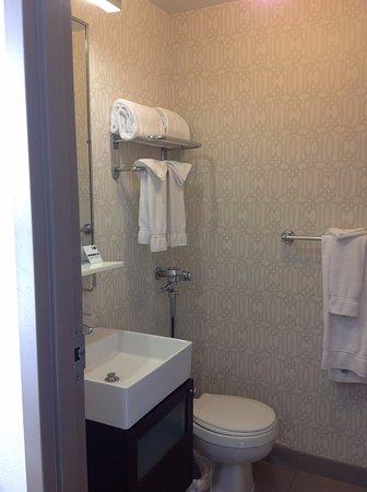 Holiday Inn Express Hotel Cass: Bathroom (10/2017)
