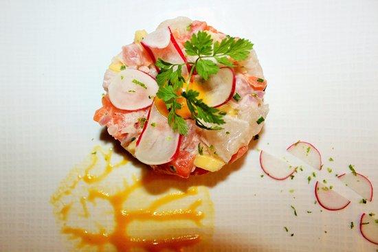 Rochegude, Francja: tartare saumon