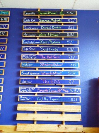 Palm Harbor, FL: Beer menu 2