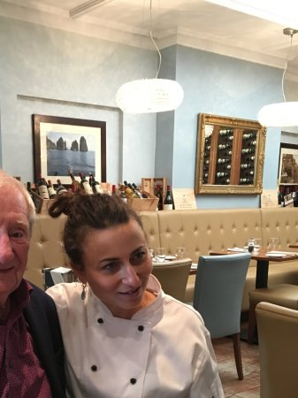 VeroGusto: My dad Mr John Conroy and the owner and brilliant Chef Ester.