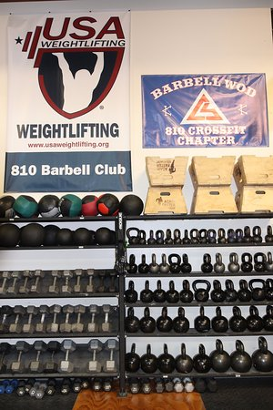 Grand Blanc, MI: We have weighted balls, dumbbells, and kettlebells