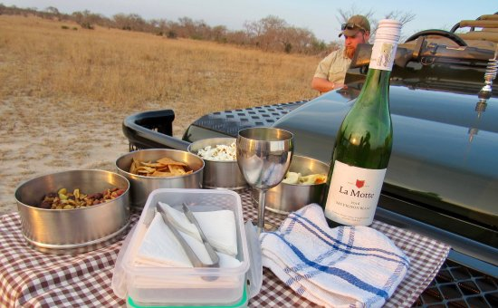 Mala Mala Private Game Reserve, South Africa: Snack on Game Drive