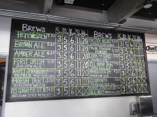 Palm Harbor, FL: de beer menu