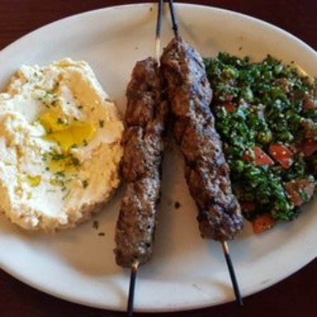 Bastrop, TX: A Lebanese Mediterranean favorite, Kafta, Hummus and Tabouli