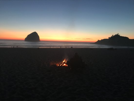 Cape Kiwanda State Natural Area: Fire, Music, A Chair And A Sunset