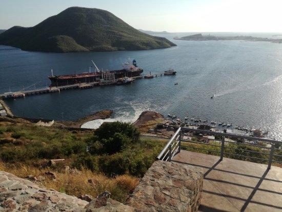 Topolobampo, México: Vista del puerto desde la terraza
