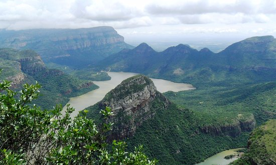 Sabie, Sydafrika: Blyderiver Dam, one of the beautiful scenic spots on the Panorama Route.