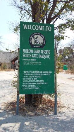 Moremi Wildlife Reserve : Ingreso