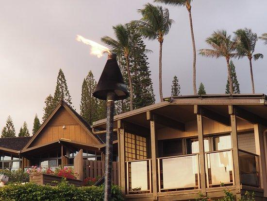 Napili Kai Beach Resort: Honalua Unit (studio) and Front Reception building behind