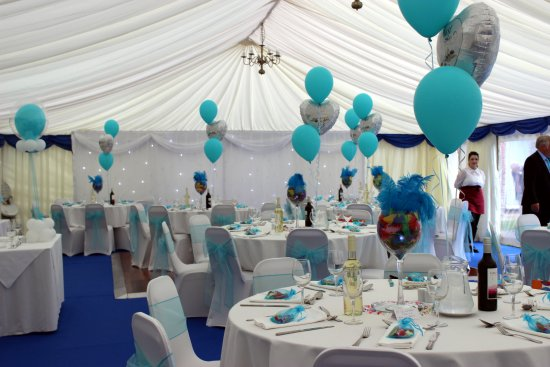The Abbey Hotel & Conference Centre: Marquee dressed up