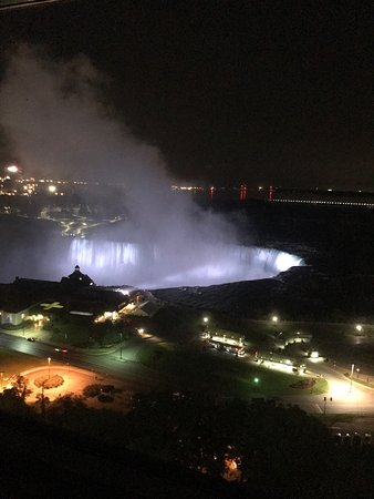 Niagara Falls Marriott Fallsview Hotel & Spa: View from the 18th floor and the wedged open Fire Door