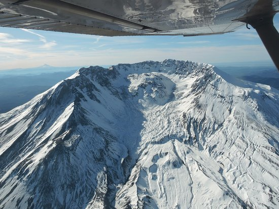 Castle Rock, Ουάσιγκτον: North side of Mount St. Helens from 8,500 feet.