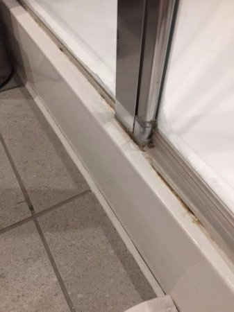 Hayes, UK: Mold in track off the shower