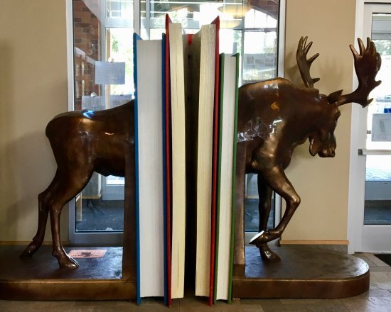 Coeur d'Alene Public Library: The moose bookends are life size!