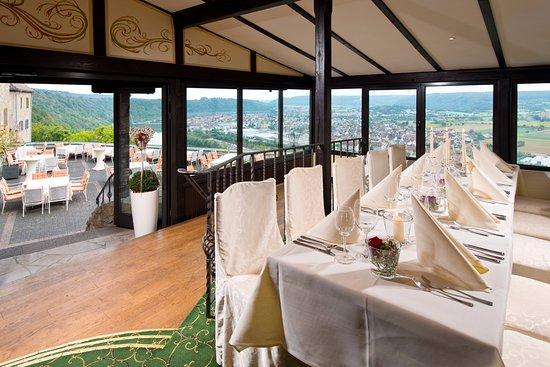 Neckarzimmern, Almanya: Blick aus dem Götzensaal - ideal für Hochzeiten und andere Veranstaltungen