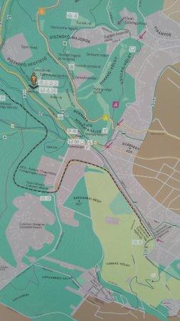 Janoshegy : Карта на пешеходном маршруте
