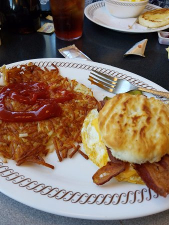 Daphne, AL: bacon, egg and cheese biscuit with hash browns