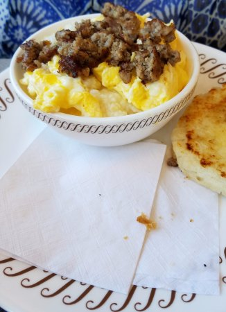 Daphne, AL: sausage, egg and grits bowl