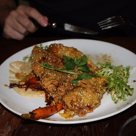 Foreign Cinema: Sesame Crusted Chicken