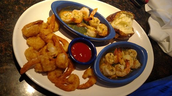 Orange Park, Floride : Fried shrimp and shrimp scampi