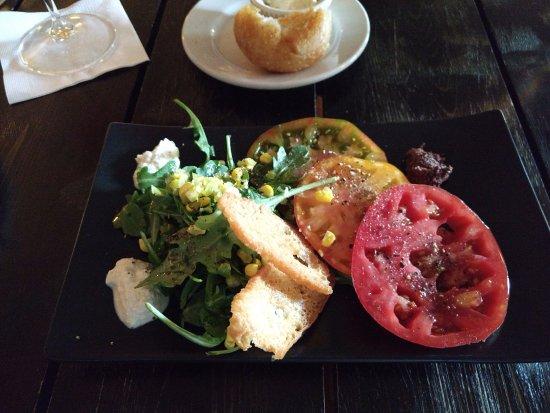 Ellison Bay, WI: house salad w/ heirloom tomatoes