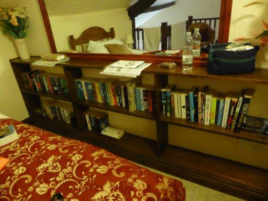 Simonsbath, UK: the well stocked bookcase