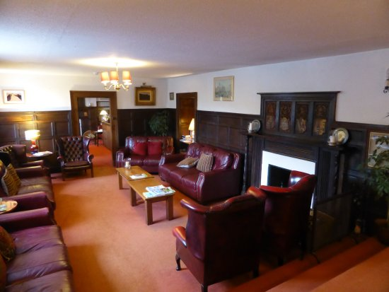 Simonsbath, UK: the wood panelled lounge