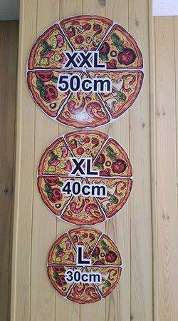 Armilla, Spain: Nuestros tamaños.