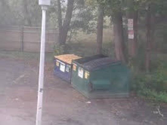 Beverly, Массачусетс: Garbage containers, view from the room