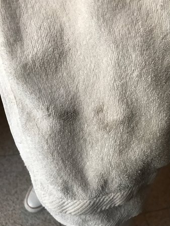 Park Hotel: Dirty and stinking towels, scruffy bathroom, stained and worn out carpet