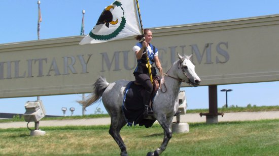The Military Museums: Galloping over the berm