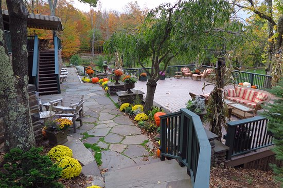 Tannersville, Estado de Nueva York: Back porch