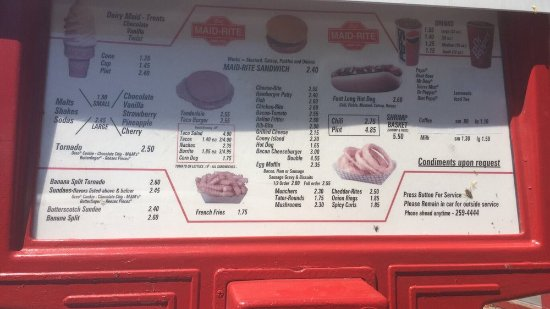 Lexington, MO: Menu right outside your car window!