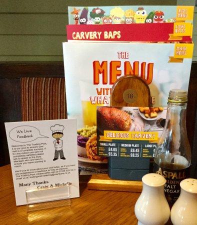 Kettering, UK: .menus
