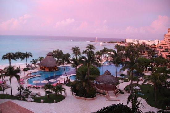 Grand Fiesta Americana Coral Beach Cancun: Room 512 view at dusk
